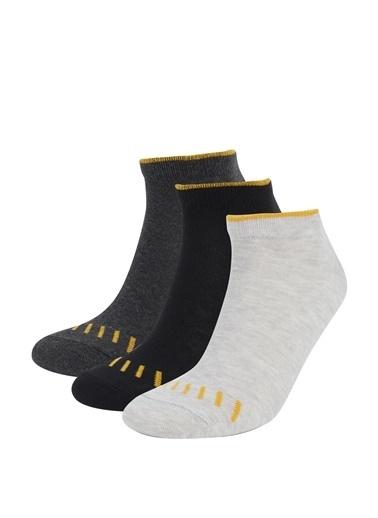 DeFacto Patik Çorap 3'lü Camel
